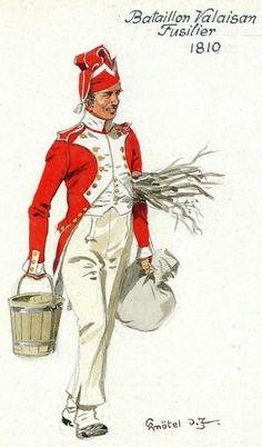 Swiss; Battalion Valaison, Fusilier 1810