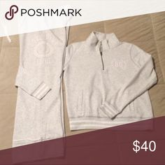 MIDNIGHT $ALE!! (2) VS PINK! Sale ends @ 12am CST...Buy Now! Quarter Zip Pullover Sz Small & Boyfriend Sweatpants Sz XSmall. Great condition. No hold/No trades. PINK Victoria's Secret Other