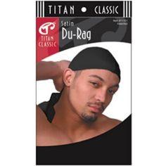 6faf98d05f8 Titan Classic Satin Du-Rag - Black  11102