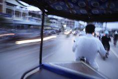 Rickshaw in Cambodia by Roger Llabrés