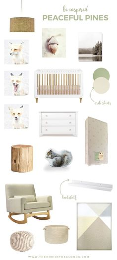 gender neutral woodland nursery ideas | This serene & neutral nursery is part of the itsums blogger's challenge. Click through for your chance to win $150 to Pottery Barn Kids and discover the latest tool to help keep you on budget.