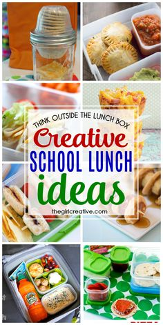 Think outside the lunch box with these creative school lunch ideas. Plenty of options besides peanut butter and jelly and turkey sandwiches.