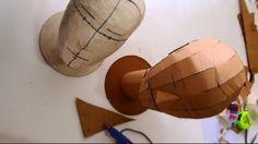 dali-lomo: Cardboard Head Form DIY - with free template (size S, M, L)