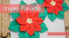 幼児とクリスマス折り紙 簡単で華やかなポインセチアの作り方 Paper Stars, Poinsettia, Crafts For Kids, Tableware, Christmas, Cards, Diy, Inspiration, Origami Diagrams