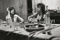 """somethingtoseeorhear: """" Sir Mick Jagger and Mr Keith Richards at the Villa Nellcôte, Villefranche-sur-Mer, Photograph by Dominique Tarle/La Galerie de L'instant Paris """" The Rolling Stones, Rolling Stones Albums, Robert Frank, Tony Frank, Mick Jagger, Melanie Hamrick, Georgia May Jagger, Charlie Watts, Downton Abbey"""