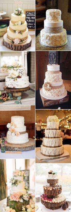 the best rustic wedding cake ideas #weddingideas