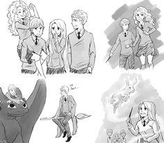 hogwarts au the big four - Google Search