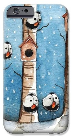 Another snowday iPhone Case by Lucia Stewart