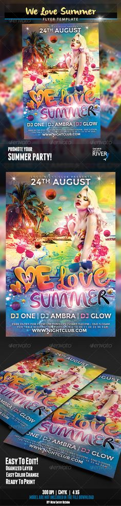 Valentineu0027s Day Party - Event Flyer Template 3 Event flyer - summer flyer template