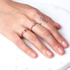 Black diamonds add a dose of modernity to this ring's vintage vibes, while rose gold makes for an effortless transition from day-to-night. Shop now. Jennie Kwon, Stone Heart, Vintage Vibes, Black Diamond, Ring Designs, Free Delivery, Gold Rings, Hearts, Rose Gold