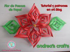 La flor de Pascua es un símbolo de la Navidad. Hoy vamos a ver cómo hacer una versión en papel.