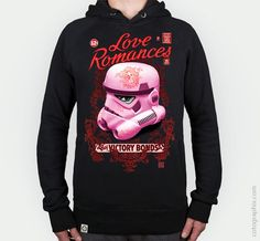 Storm love (B) by Gust. Camiseta, sudadera y totebag. #force #starwars #wars #storm #rosa #pink #stormtrooper #love #tattoo #woman #cool #treendy #fashion #beauty #romances #victory #retro #vintage #scifi #nerd #geek #jedi