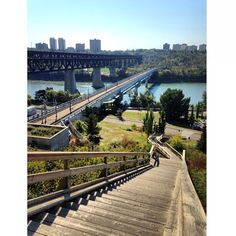 High Level Bridge and River Valley, Edmonton Alberta, Canada...  I found this photo on pinterest.  It is one of my favourite places to work out!