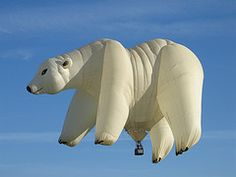Adirondack Balloon Festival ... Polar Bear Ballon Flying High