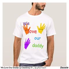 Homemade Fathers Day Card, Homemade Gifts For Dad, Daddy Birthday Gifts, Daddy Gifts, 3 Kids, Diy For Kids, Diy Father's Day Shirts, Homemade T Shirts, Valentine Gifts For Kids