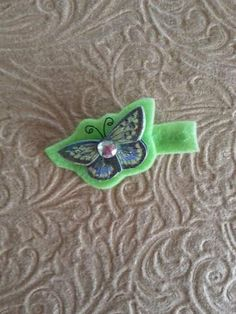 Adorable Butterfly Hair Clip by ErikaRenaeDesigns on Etsy, $5.00