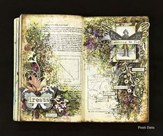 My ramblings on craft, counselling and more : Post 472: Our Favorites Mixed Media Youtube Hop- Grungy Vintage Art Journalling