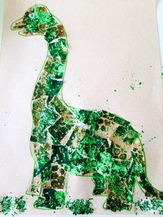 bubble print dinosaur paintings artworks (IMAGE: The Art Box 2508)