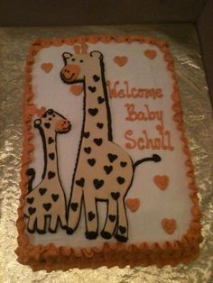Trifles' Cute Giraffe Baby Shower Cake