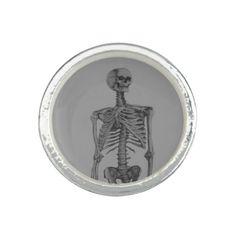 Monochrome Skeleton Skull Ring