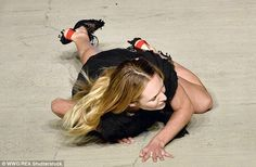 Fallen Angel: Candice took an unlucky tumble on the runway for Givenchy SS16 on Friday nig...