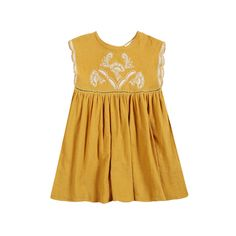 LOUISE MISHA carlotta mustard dress
