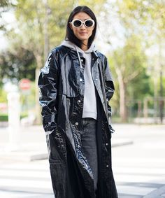 13 Ways To Wear Patent Leather This Winter #refinery29  http://www.refinery29.com/patent-leather-vinyl-gloss-trend-winter-2017
