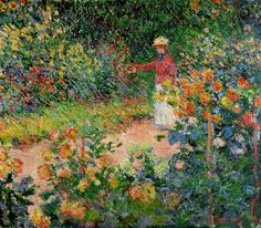 Monet's Garden at Giverny, 1875 ~ Claude Monet ~ (French: 1840-1926)