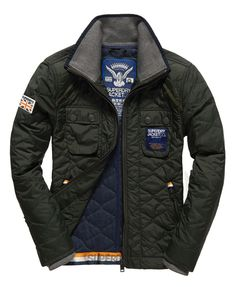 Superdry Nylon Quilt Jacket Green