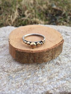 I created this ring because I absolutely love stacker rings of mixed metals because there is something so beautiful about the combination of warm