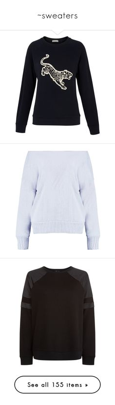 """""""~sweaters"""" by courageousmind ❤ liked on Polyvore featuring tops, hoodies, sweatshirts, print sweatshirt, jersey sweatshirt, navy top, embroidered sweatshirts, jersey top, sweaters and boatneck sweater"""