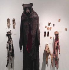 Linda Hall's Beautifully Grim Textile Animal Sculptures Embody Pain, Healing, And Spiritual Hybridity. From website Beautiful Decay Textile Sculpture, Soft Sculpture, Artistic Tree, Weird Toys, Art Costume, Animal Sculptures, Textile Artists, Assessment, Fiber Art