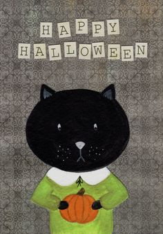 Halloween Kitty Cat by MarsupialMenagerie