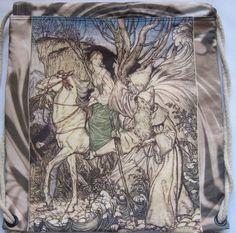 Fairy Tale Arthur Rackham Undine Backpack/tote by Craftyscientists
