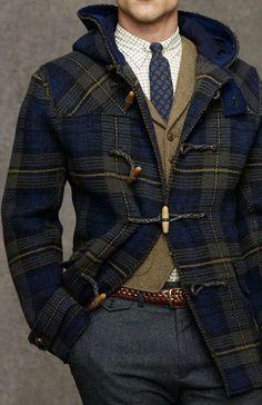 c281c8ec432f Caledonian preppy vibe  Ralph Lauren Tartan toggle coat. Fashion Moda,  Preppy Mens Fashion