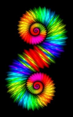 spiral ToniK ❖de l'arc-en-ciel❖❶ fractal art color pop Art Fractal, Fractal Design, Fractal Images, World Of Color, Color Of Life, Color Splash, Color Pop, Color Swirl, Rainbow Colors