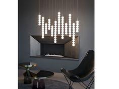 2er Set LED Chrom Wand Leuchten Treppenhaus Beleuchtungen Glas Big Light