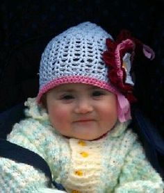 Baby Hat with Flower by KCWL on Etsy, $3.50