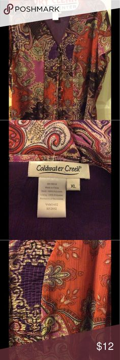 Adorable purple paisley button down Love this shirt from coldwater creek - might need a cami under this one Coldwater Creek Tops Button Down Shirts