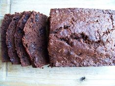 Chocolate Banana Bread - made this for Drew out of my stockpiled leftover bananas.