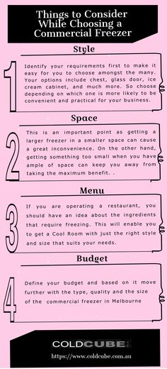 This infograhic about - When it comes to choosing the right in the options can be confusing! So, some tips about what to consider while choosing a right freezer that satiates all the requirements of your business. Cream Cabinets, Freezer, Melbourne, Commercial, Things To Come, Business, Tips, Chest Freezer, Store