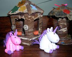 paper quilling unicorn, three dimensional
