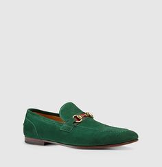 Gucci - suede horsebit loafer with web 322500CMA403160