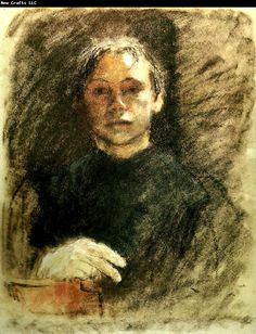 kathe kollwitz - a self portrait she did as a young woman