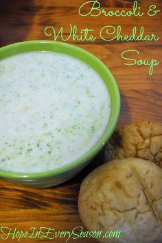 Broccoli & White Cheddar Soup #recipe #fall #cheese #comfortfood #homemadesoup