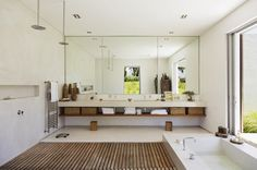 Are mirrors in the kitchen good feng shui? How about the feng shui of mirrors in the bedroom? Find out the best and the worst feng shui use of mirrors - from your main entry to your living room. Bathroom Renos, Bathroom Renovations, Bathroom Furniture, Home Renovation, Master Bathroom, Bathroom Mirrors, Feng Shui Bathroom, Différents Styles, Style Deco
