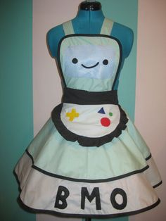 BMO Adventure Time Inspired Cosplay Apron Pinafore. $85.00, via Etsy.    Wow! The other characters are just as awesome