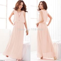 Plus Size 2014 New 4colors Women's Bohenmia Chiffon Long Maxi Dresses Sleeveless Vest  Dress , women clothes S,M,L,XL,XXL,XXXL-in Dresses from Women's Clothing & Accessories on Aliexpress.com | Alibaba Group
