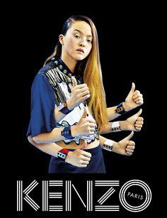 Devon Aoki for Kenzo S/S '14.