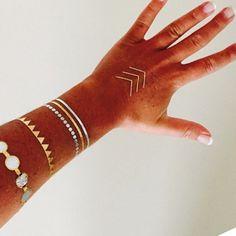 Flash Tattoos - Jewelry-Inspired Metallic Temporary Tattoos